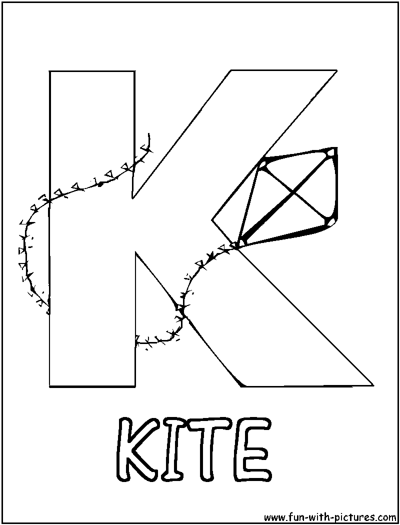 kite coloring images alltoys for