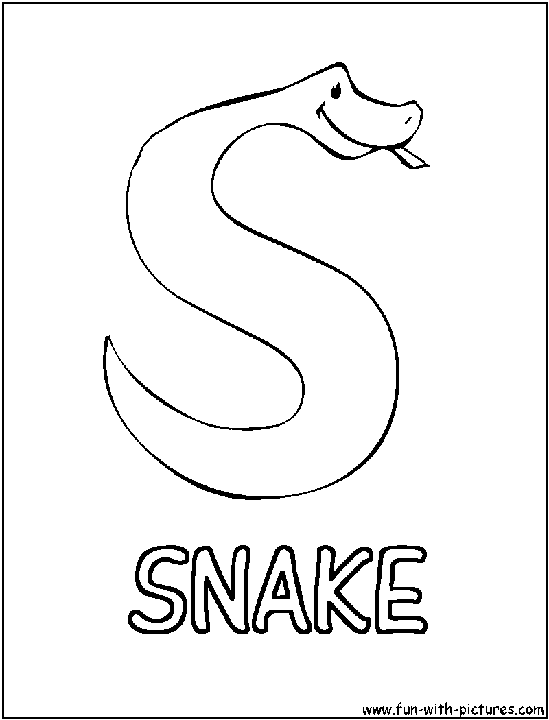 s is for snake coloring pages - photo #4