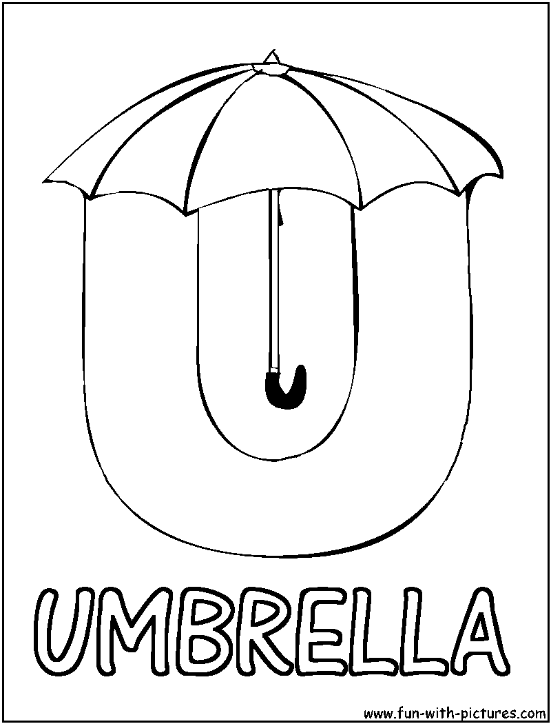 Coloring Pages For U : Picture alphabets u coloring page