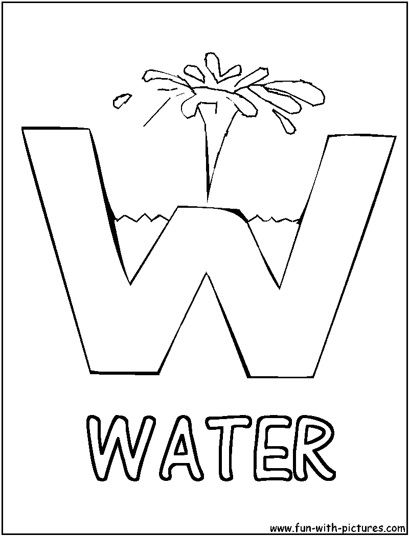 Alphabets Pictures Coloring Pages