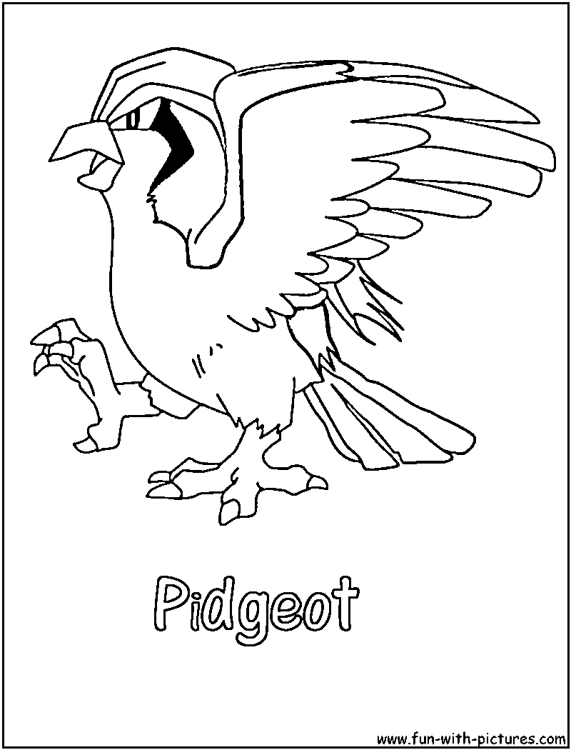 pidgeot pokemon coloring pages - photo#5