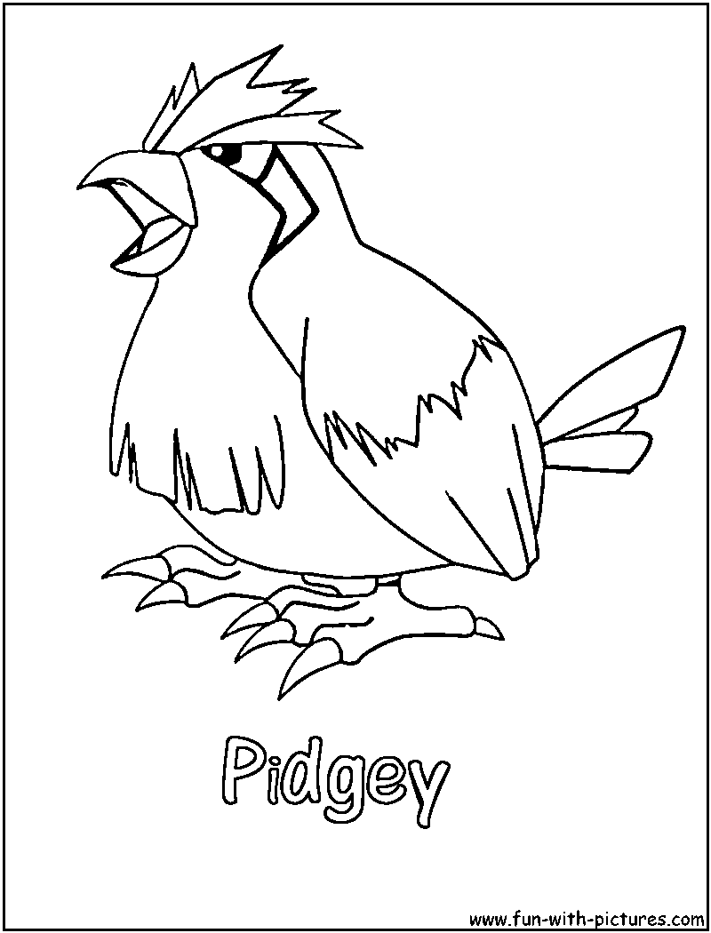 Flying Pokemon Coloring Pages