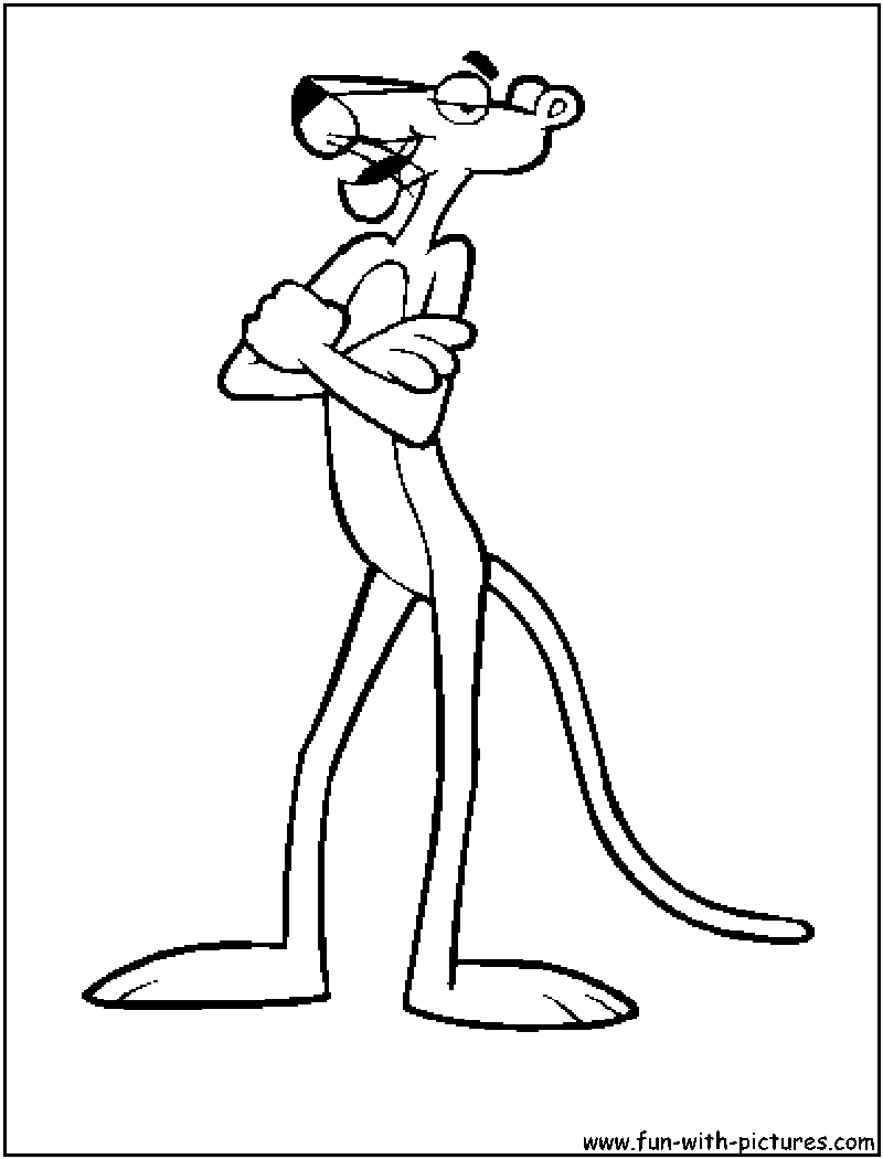 pinkpanther coloring pages free printable colouring pages for