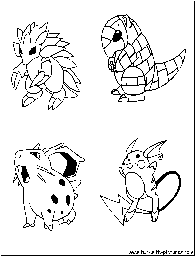 Mattyb coloring pages - Pokemon Coloring Page5