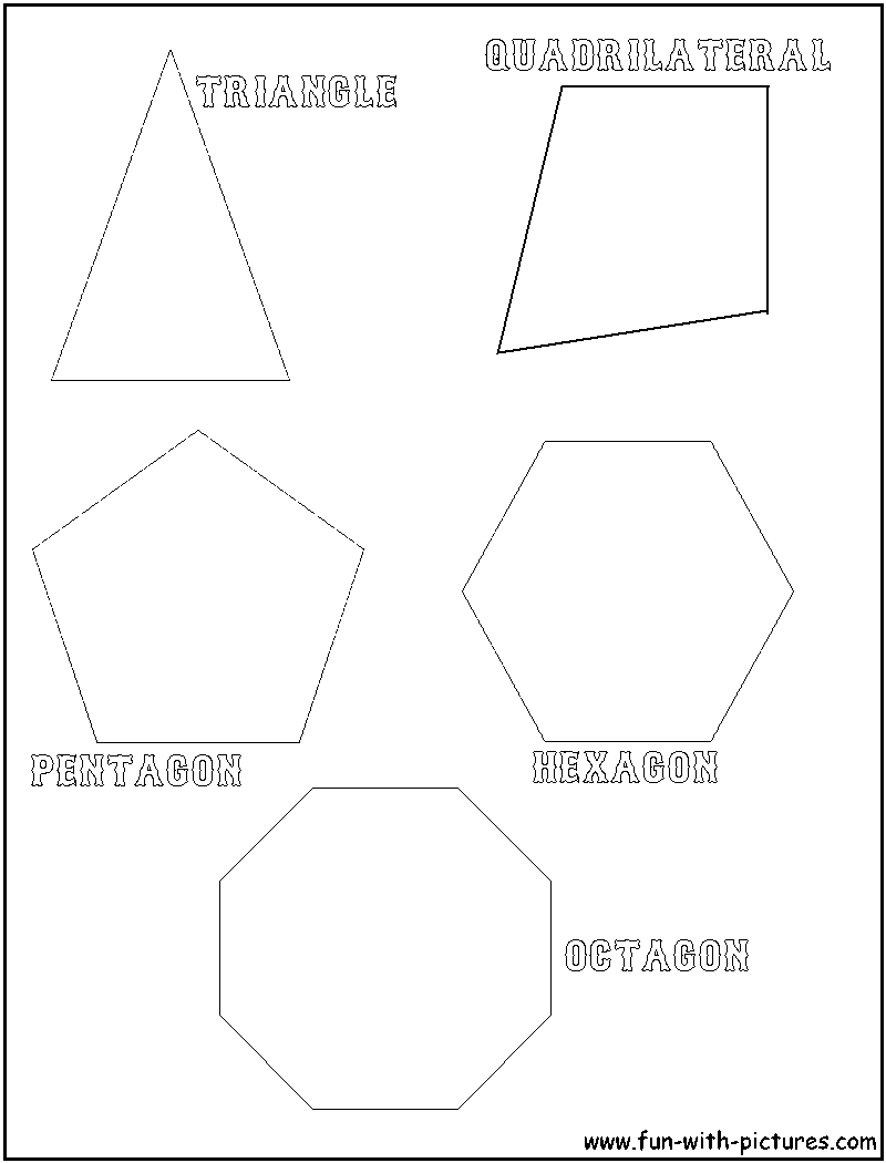 polygon shapes coloring page