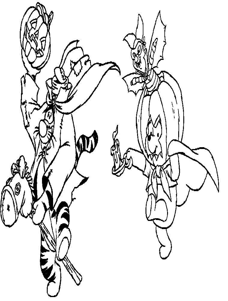 halloween pooh bear coloring pages - photo#11
