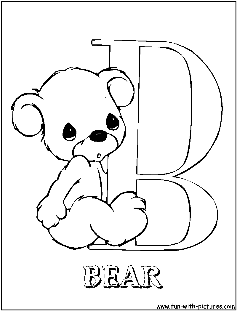 b printable coloring pages - photo #39