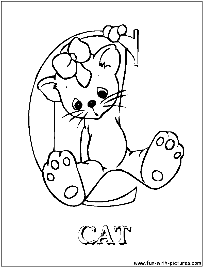 Free coloring pages of sniper elete3 for C is for cat coloring page