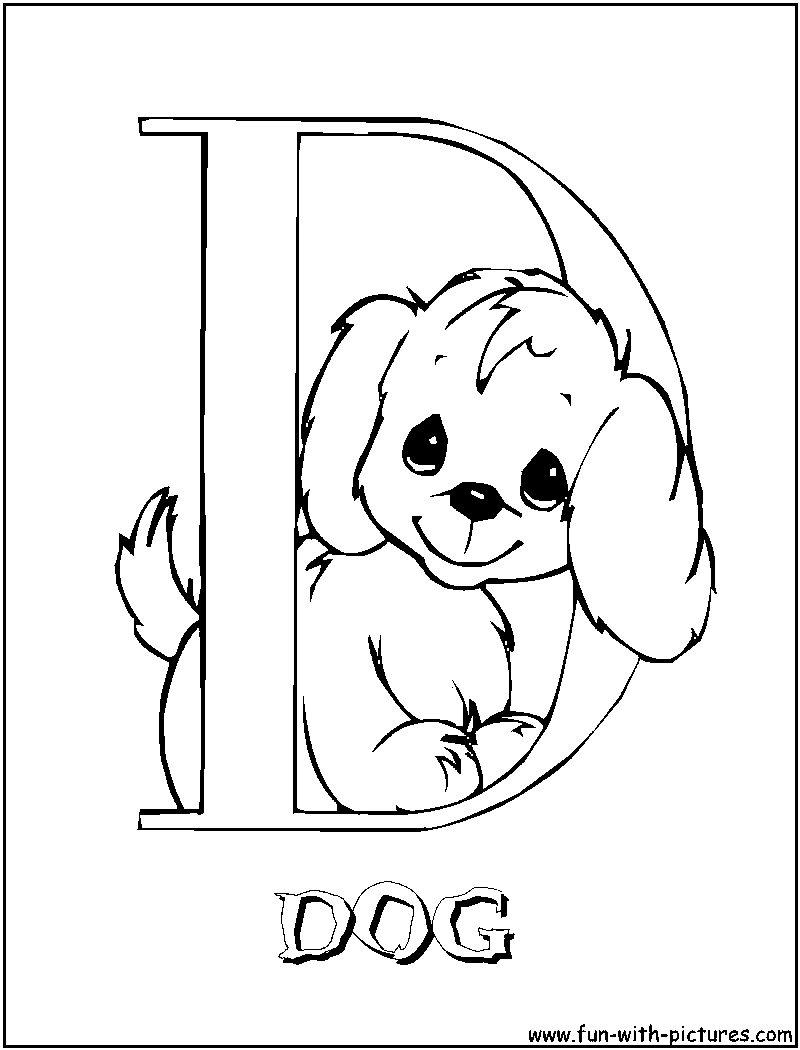d for dog coloring pages - photo #8