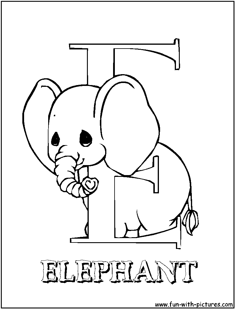e elephant coloring pages - photo#26