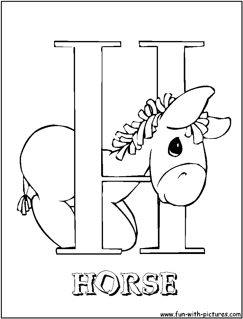 free letters h coloring pages