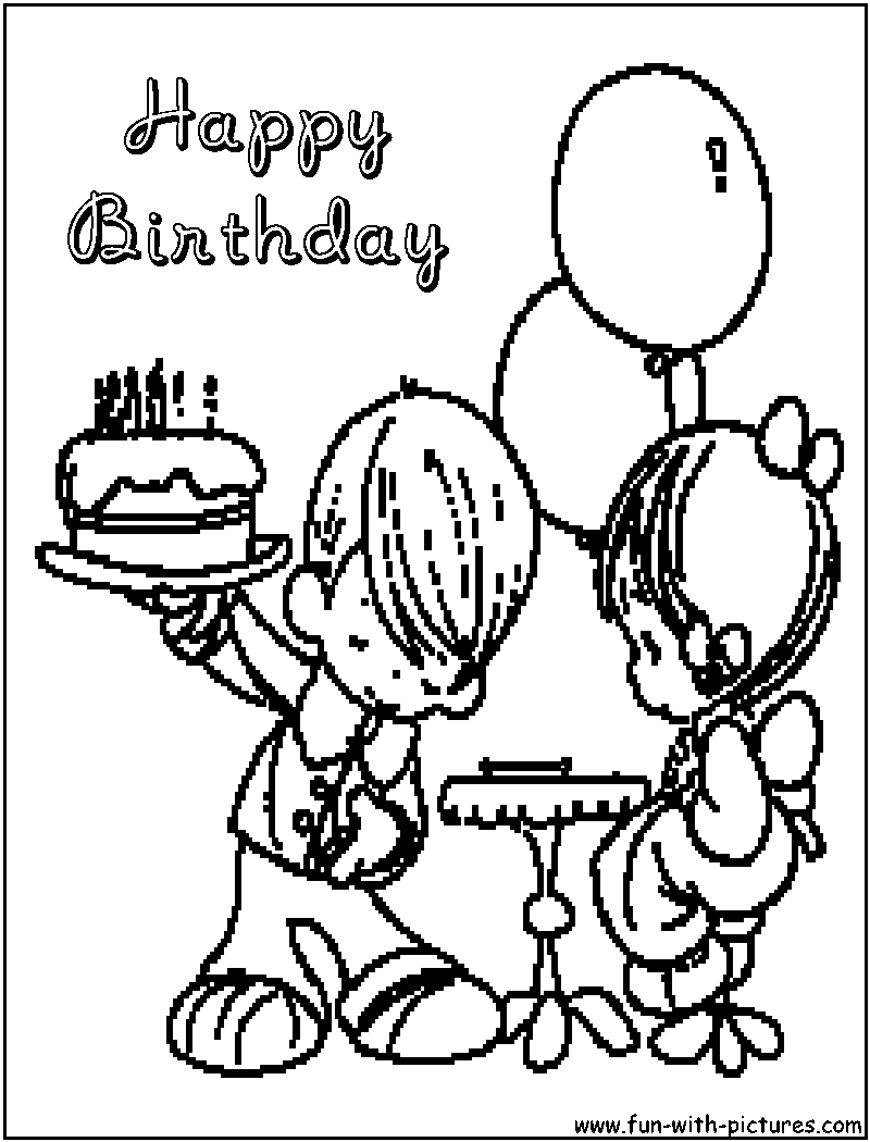 preciousmoments happybirthday coloring page png 800 1050 happy