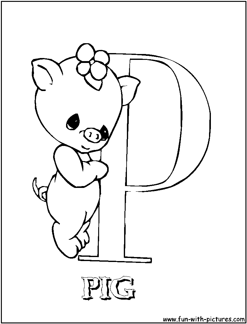 Free Coloring Pages Of Precious Moments Alphabet