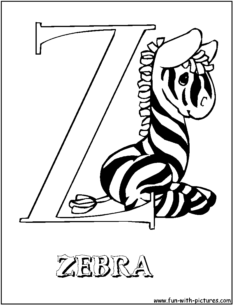 zebra coloring pages without stripes - photo #43