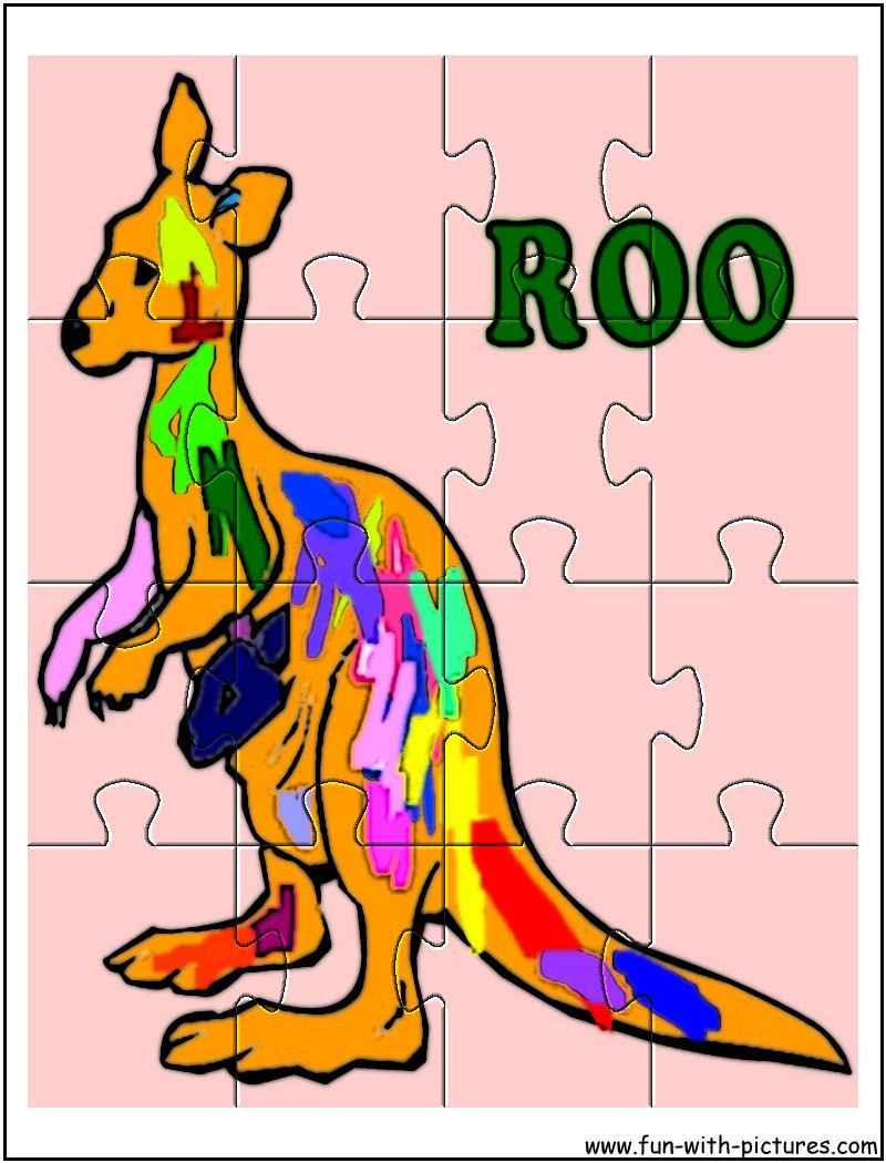 Printable Kangaroo Jigsaw