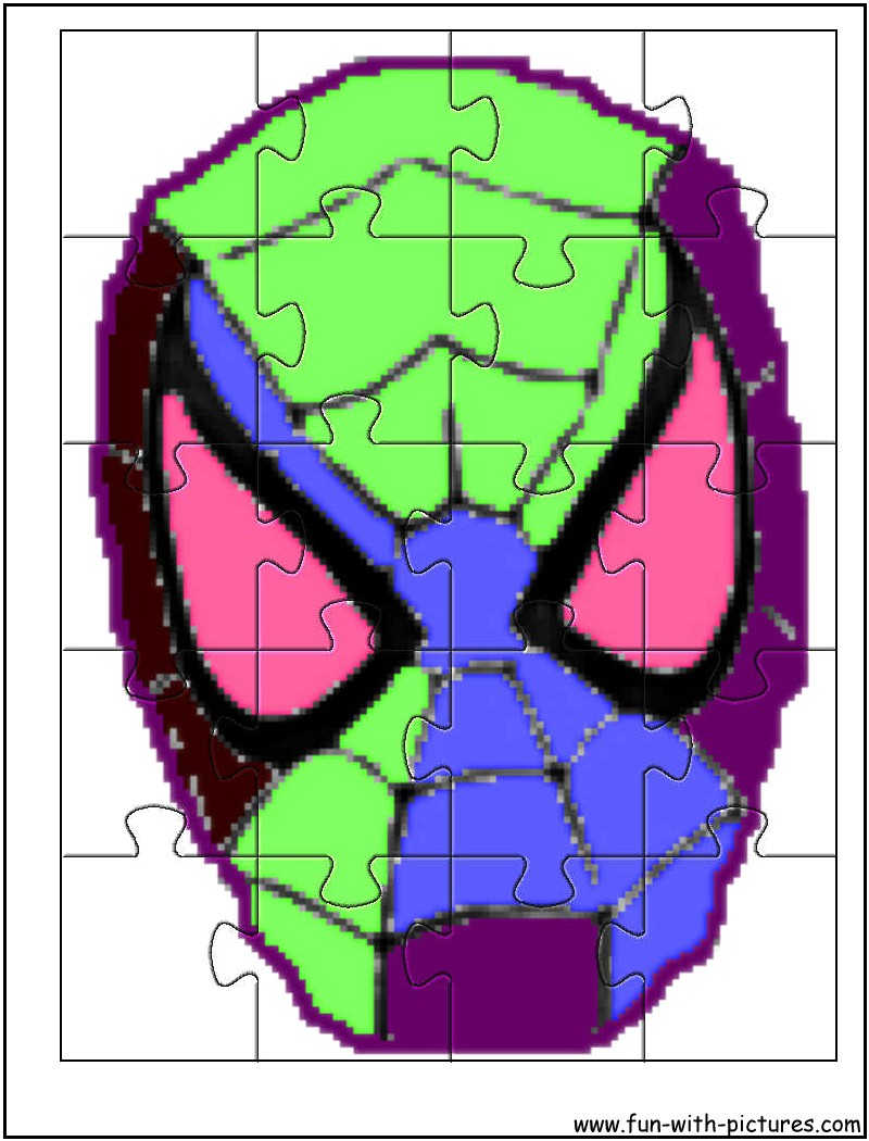 Printable Spiderman Jigsaw