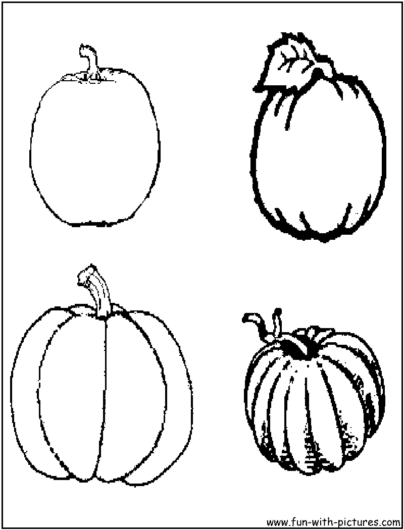 small pumpkins coloring pages - photo#37