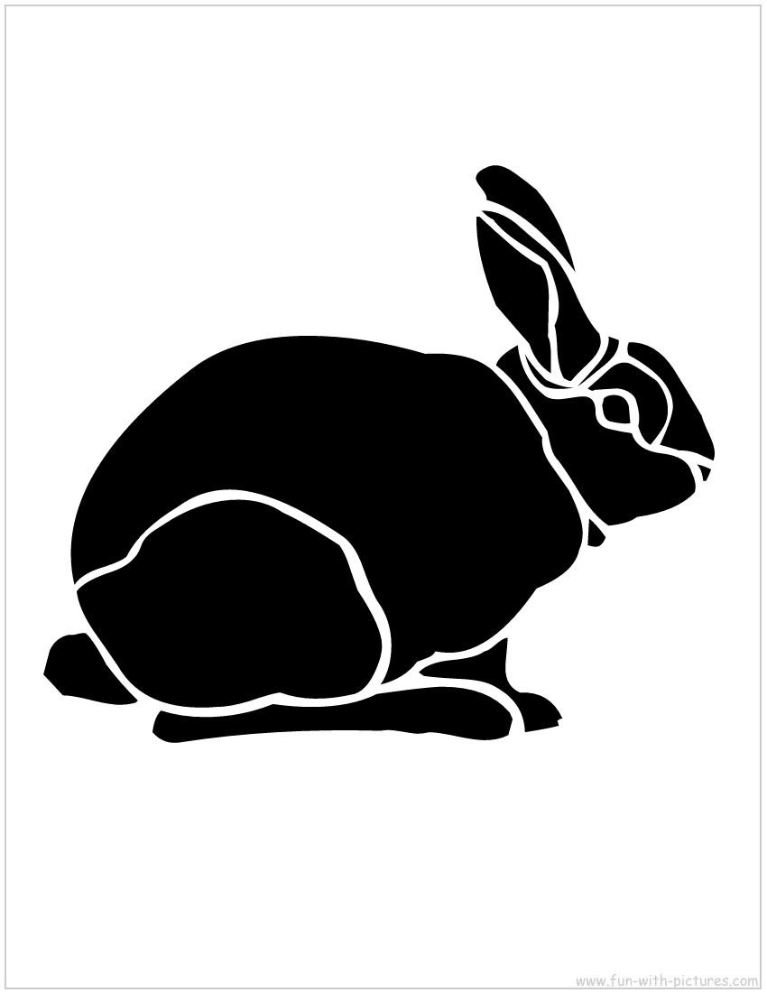 Кролики шаблоны и трафареты