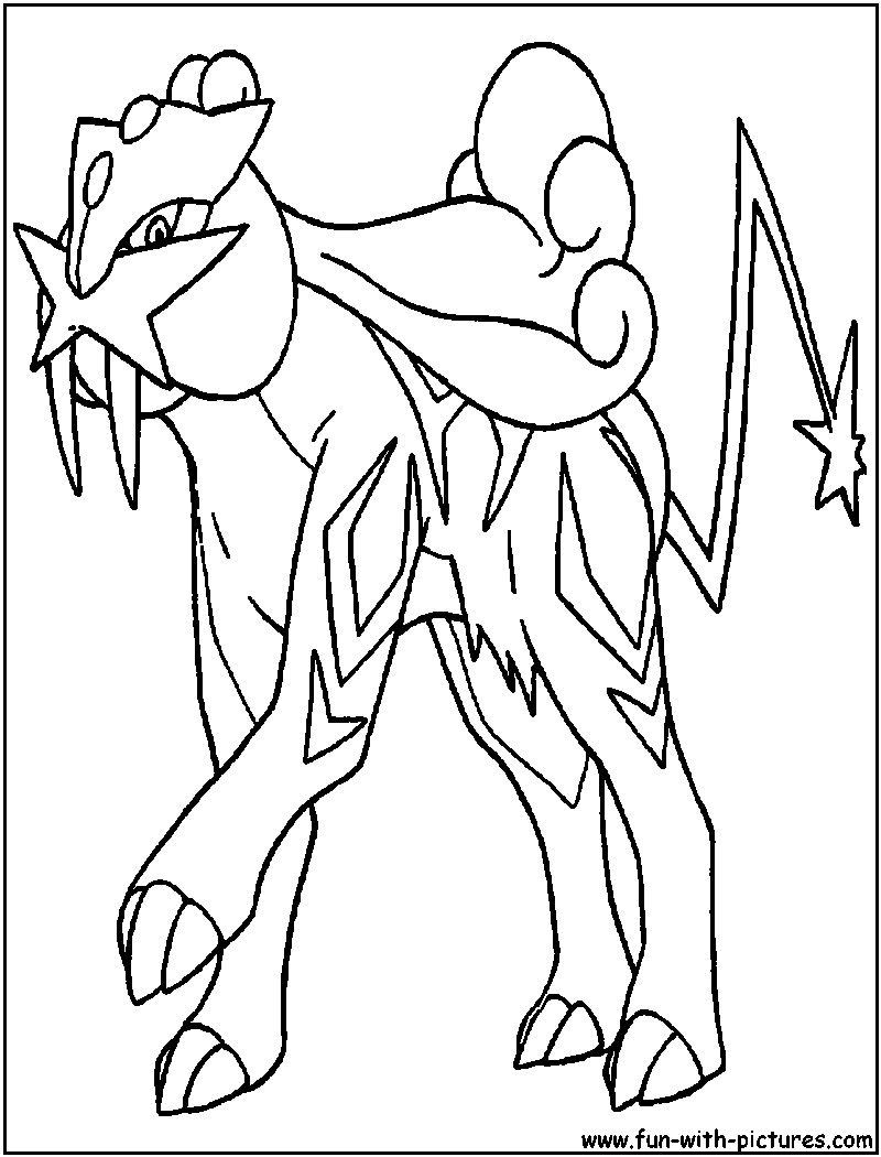 raikou coloring pages - photo#12