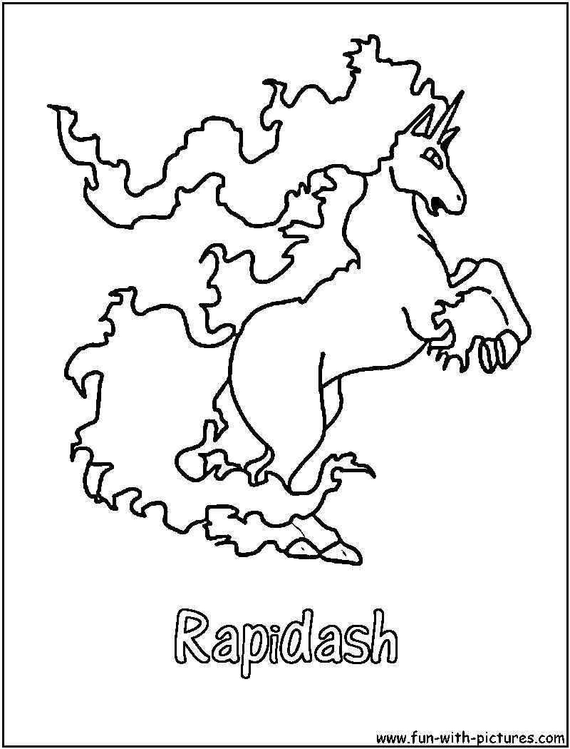 rapidash coloring pages - photo#1