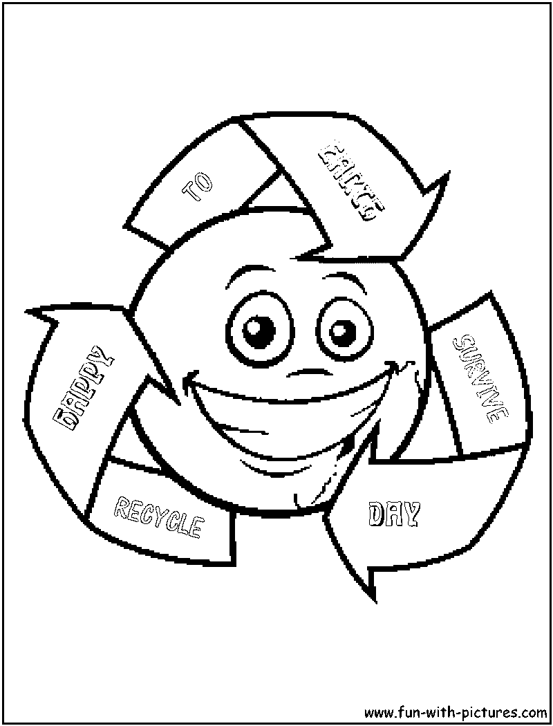 recycle coloring pages - photo#13