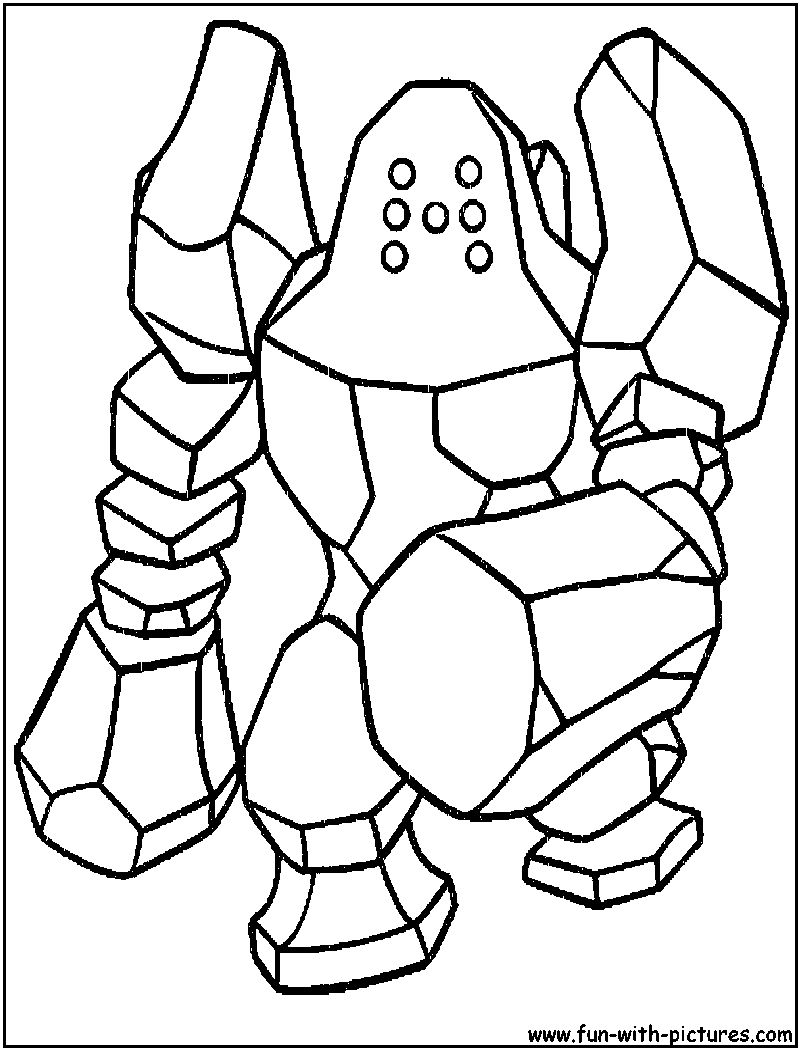 Pokemon coloring pages throh - Pokemon Coloring Pages Roggenrola Regirock Coloring Page