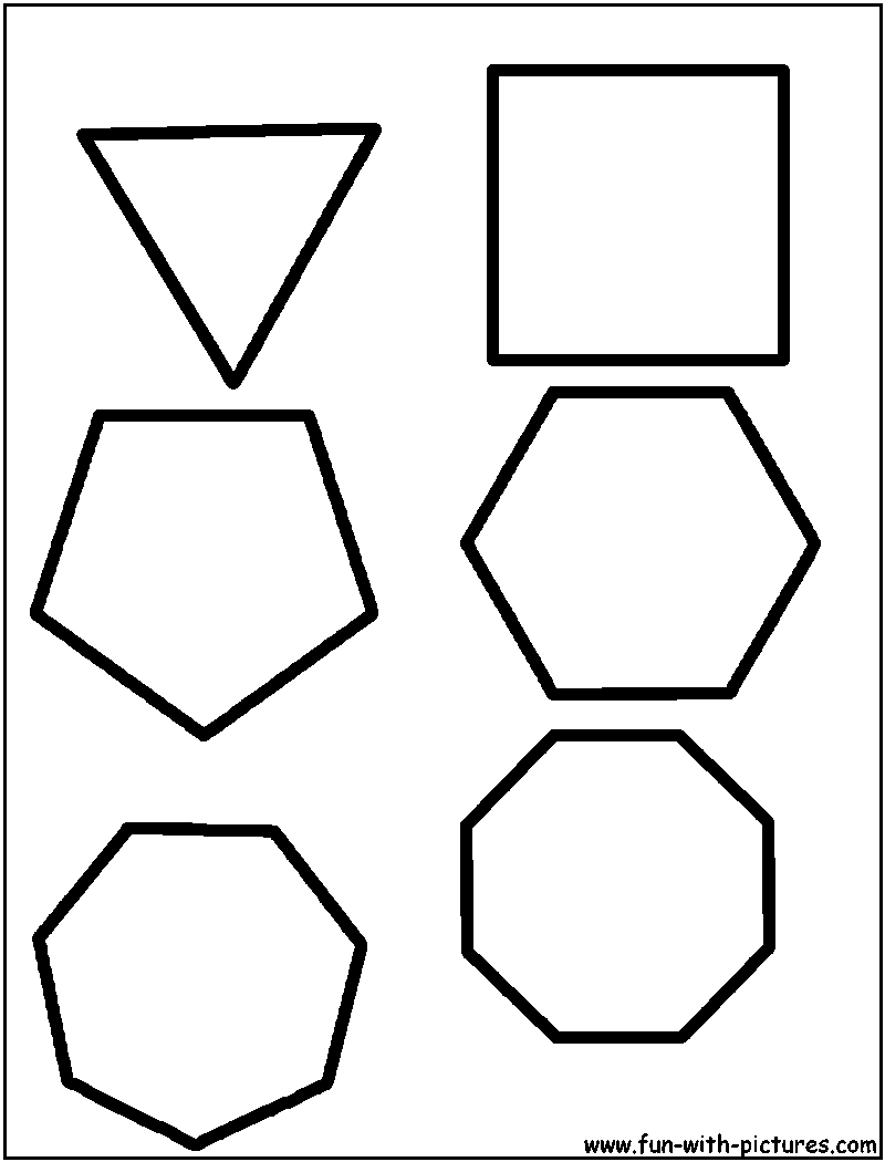 polygons coloring page