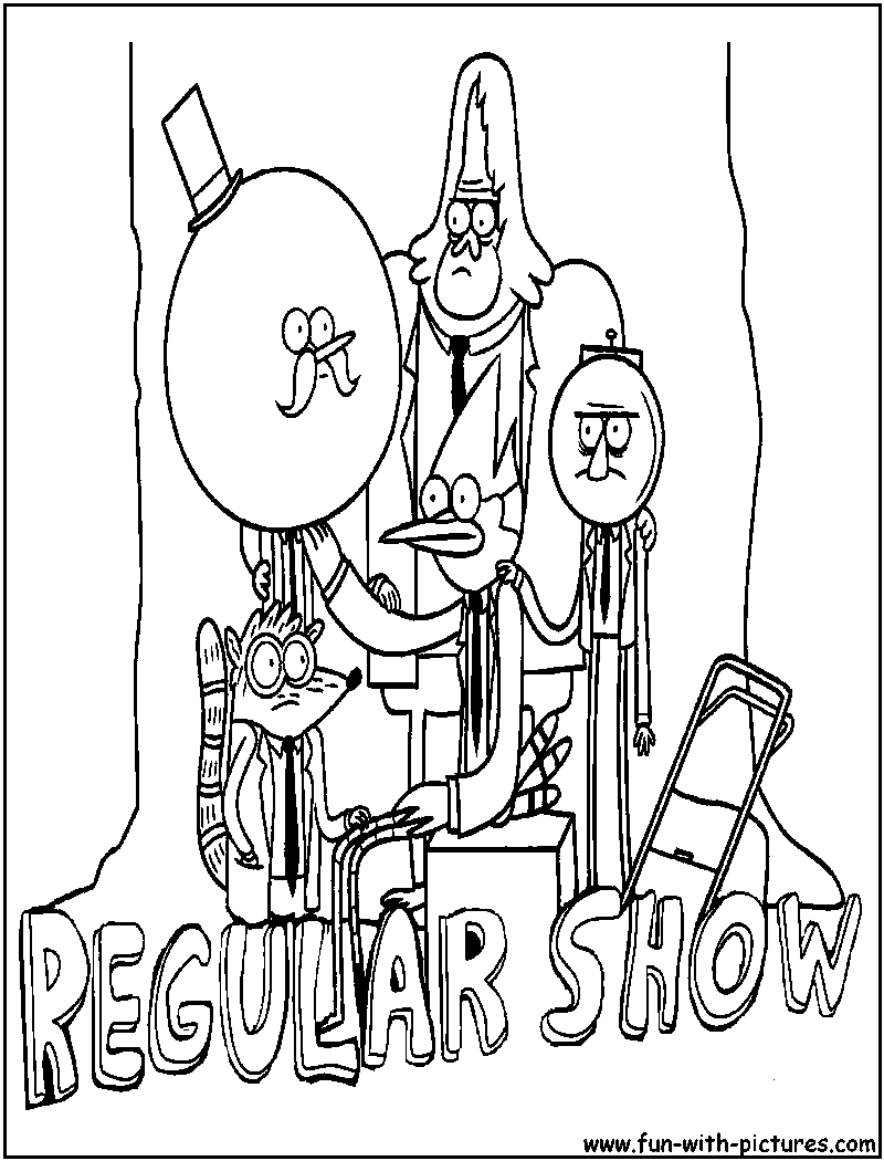 Regular Show Characters Coloring Page