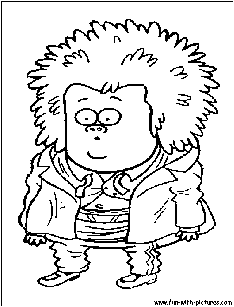 Printable coloring pages regular show - Regular Show Muscleman Coloring Page