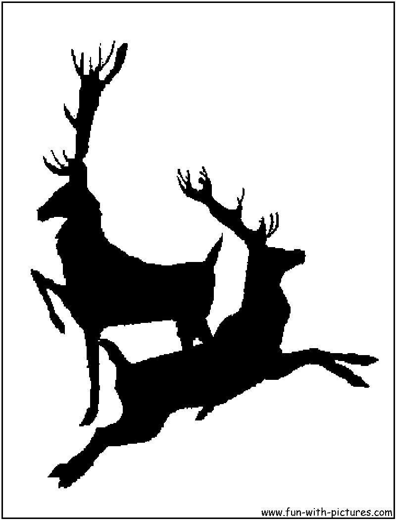 Reindeer Silhouette Flying reindeer silhouettes