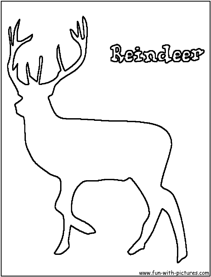 Reindeer outline for Outline coloring pages