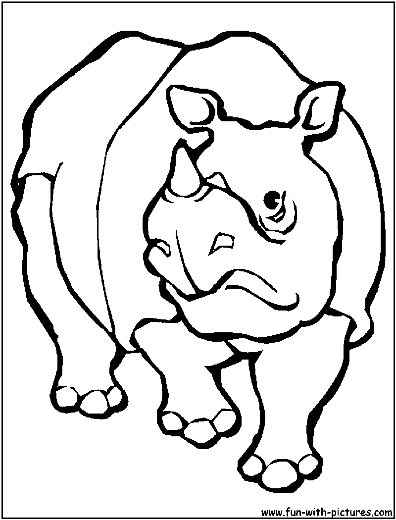 African Animals Coloring Pages Free Printable Colouring