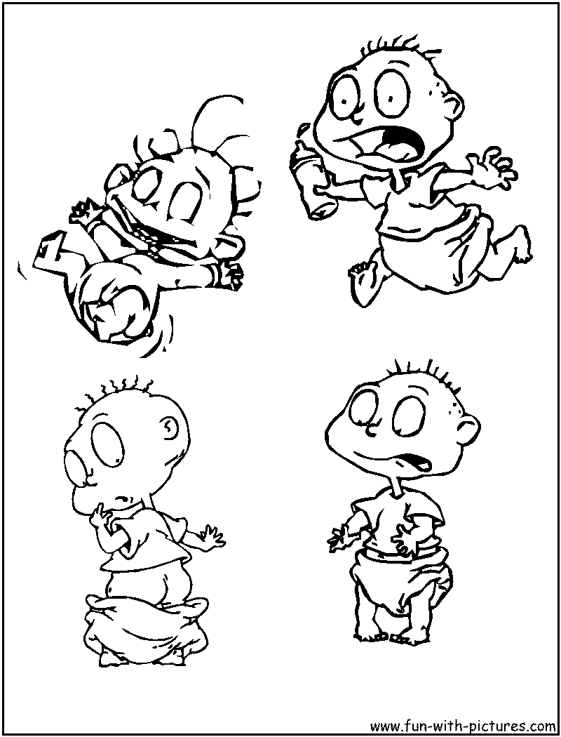 Rugrats Coloring Pages - Free Printable Colouring Pages for kids to ...