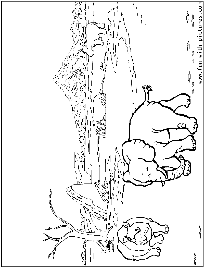 Waterhole Coloring Page