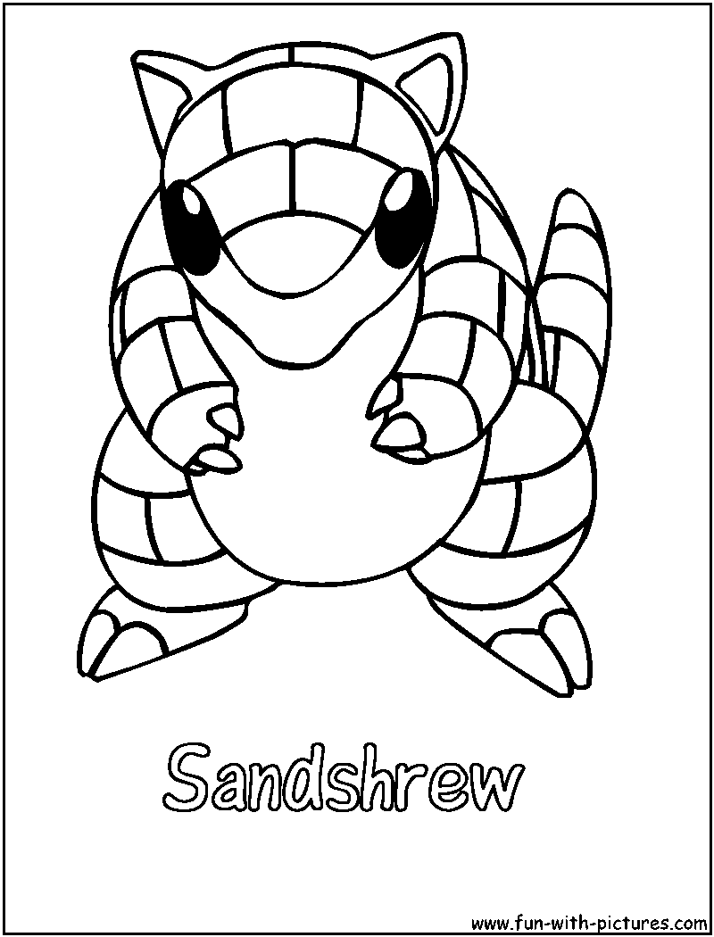 Coloring pages question mark - Sandshrew Coloring Page