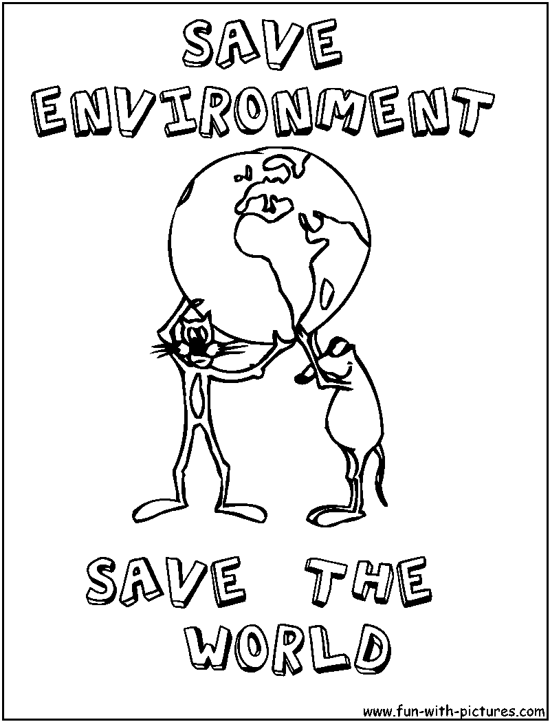 Save environment coloring page