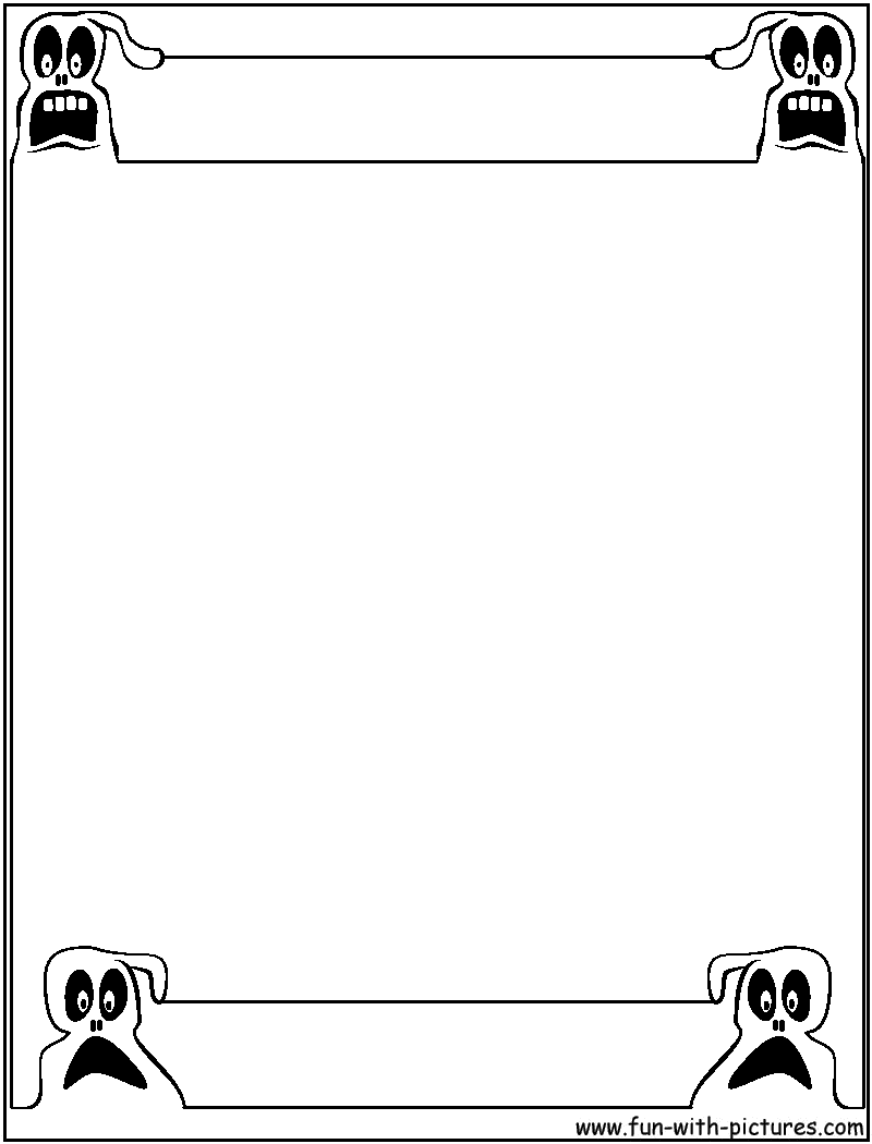 halloween coloring pages borders - photo#11