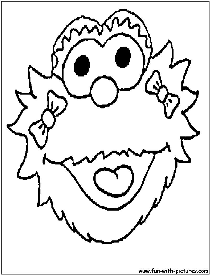Zoe Sesame Street Coloring Page Sesame Street Zoe Colo