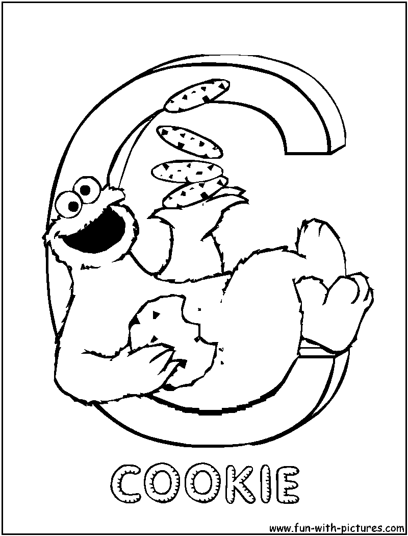 c is for cookie coloring pages - photo #1