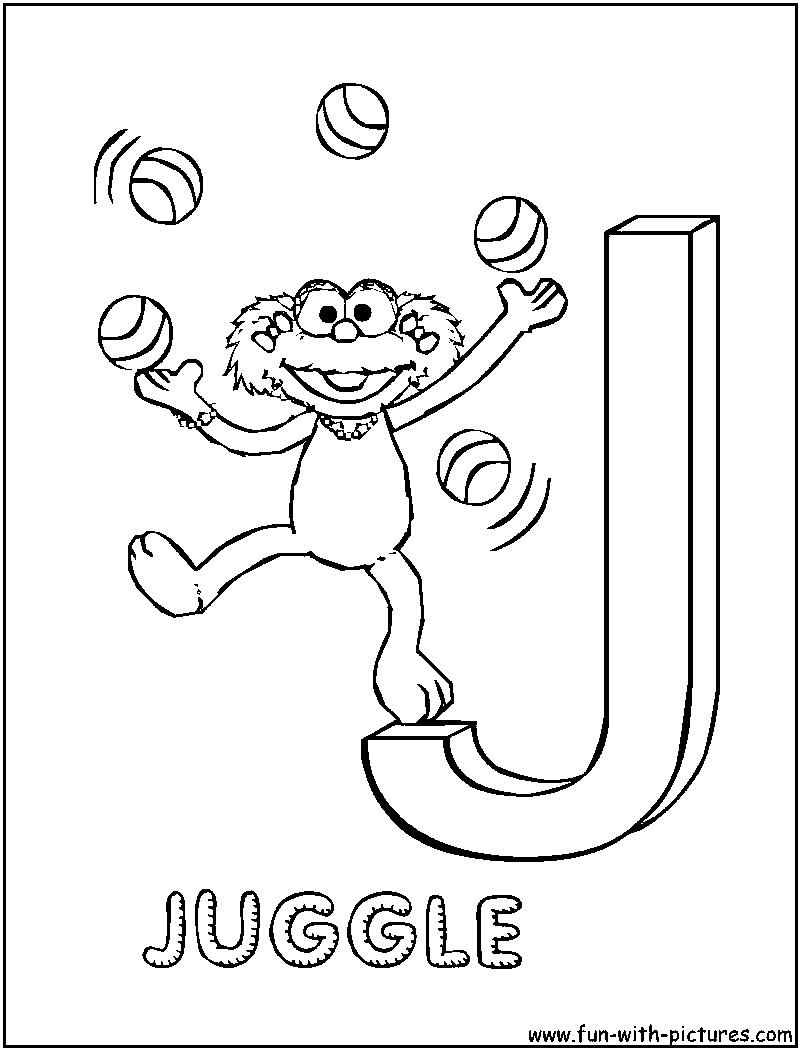 j coloring pages print - photo #44