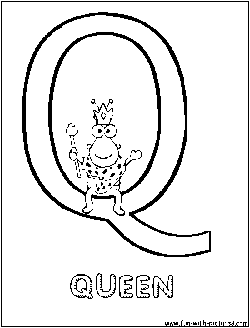 q is for queen printable coloring pages - photo #40