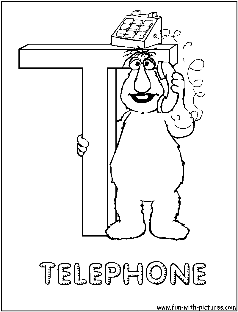t coloring pages - photo #45