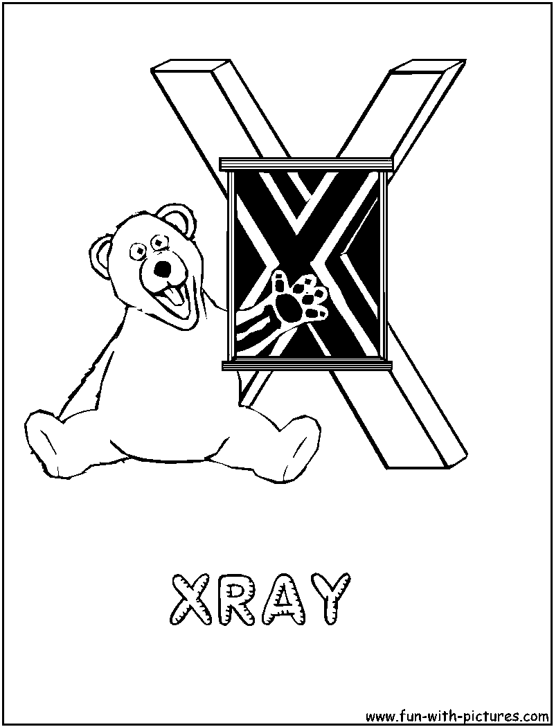 x is for x ray coloring pages - photo #18