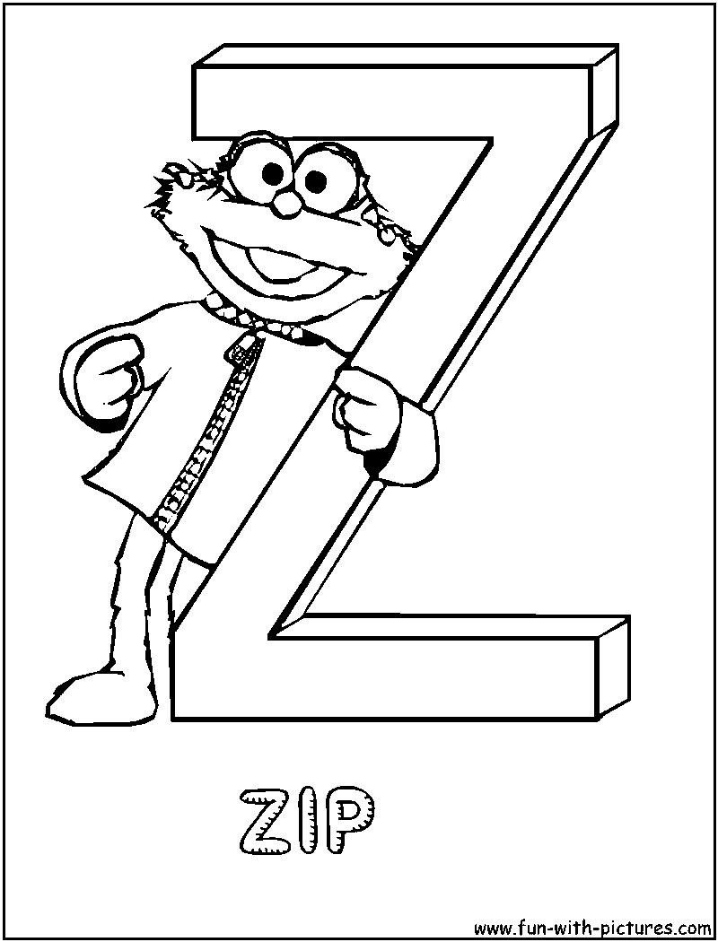 zipping coloring pages - photo#19