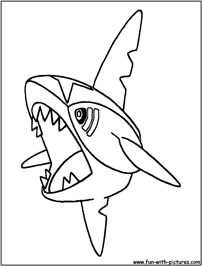 sharpedo coloring page