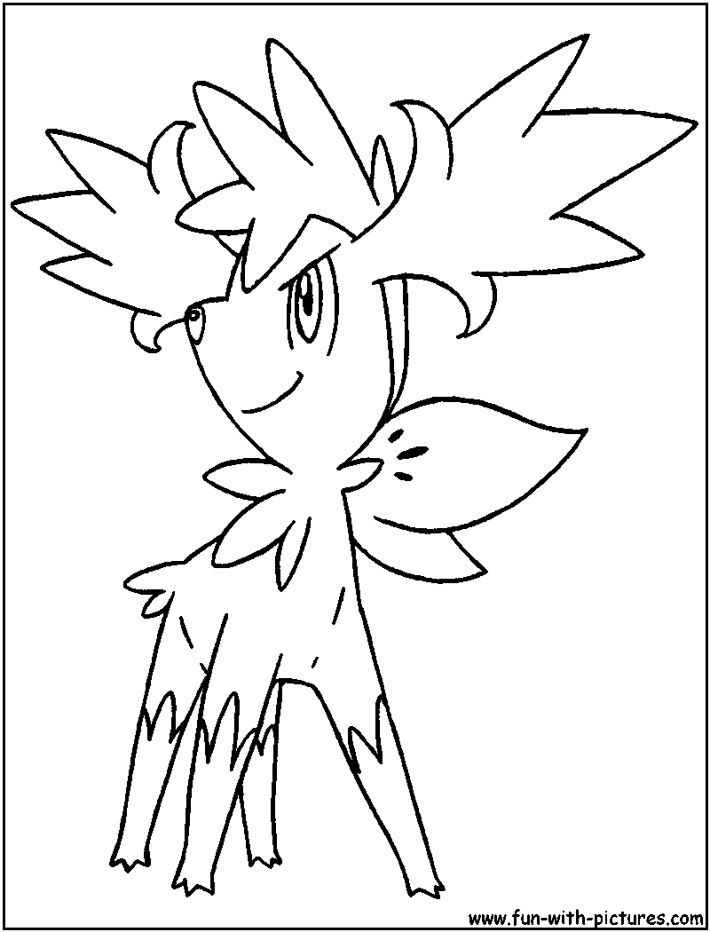 pokemon coloring pages shaymin sky form