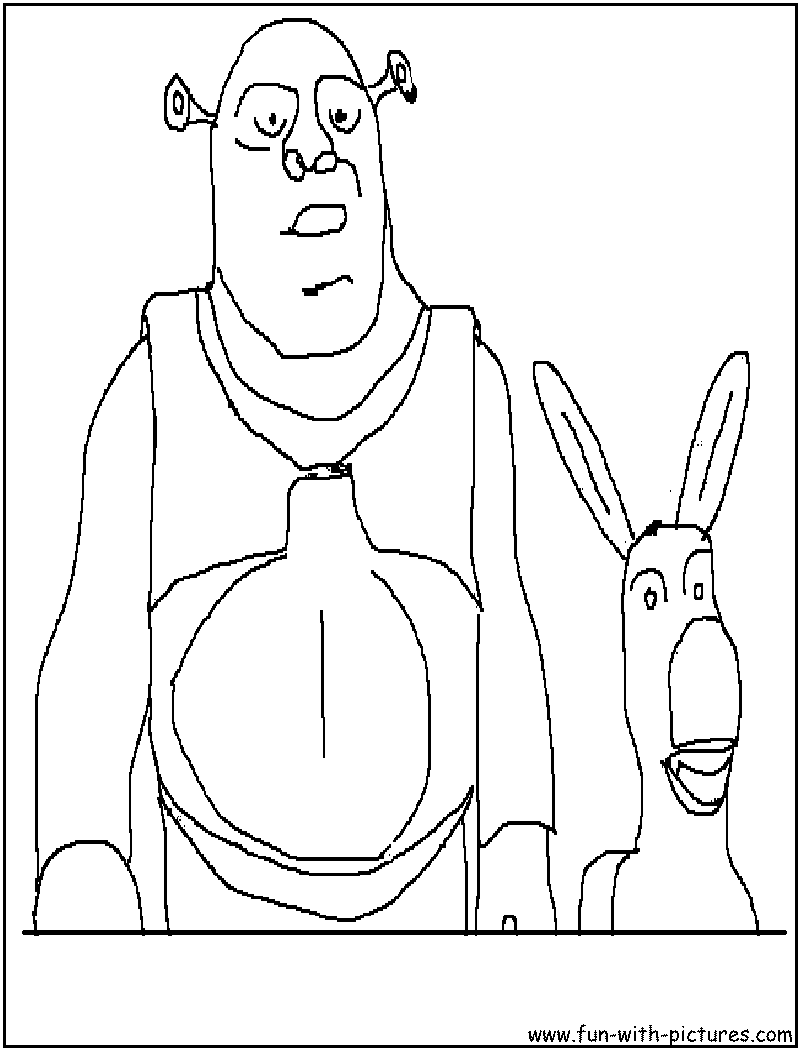 shrek coloring pages free printable colouring pages for kids to