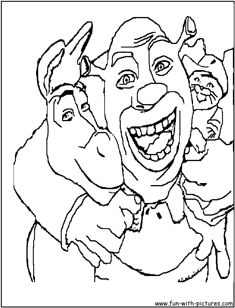 Shrek Friends Coloring Page