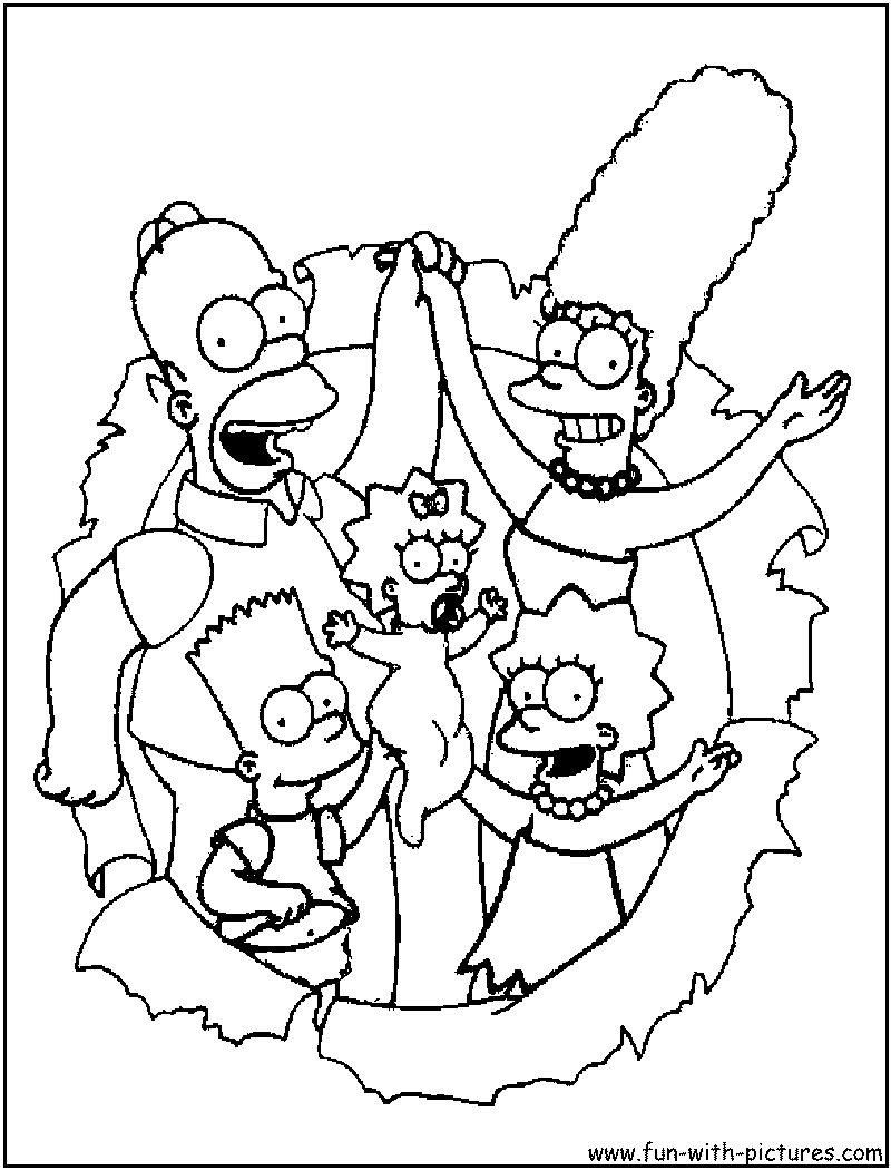 simpsons coloring pages free printable colouring pages for kids