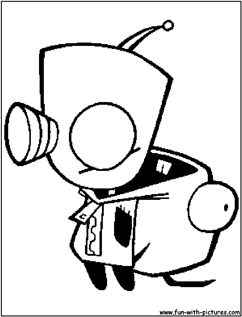 gir invader zim coloring pages - photo#14